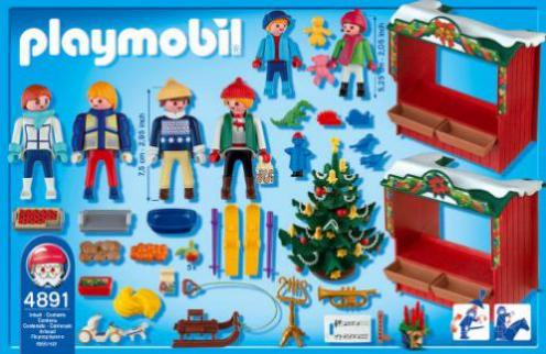Playmobil Weihnachten.Playmobil Weihnachten Weihnachtsmarkt 4891