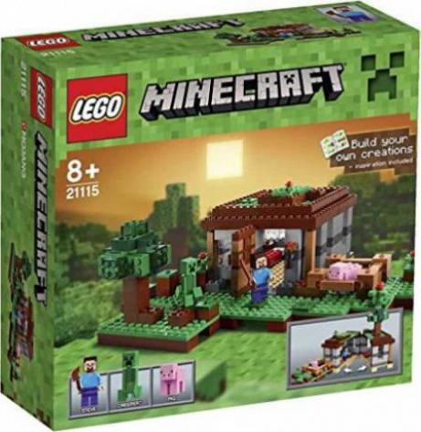 LEGO Minecraft Micro World Steves Haus Günstig Kaufen - Minecraft haus bauen spielen