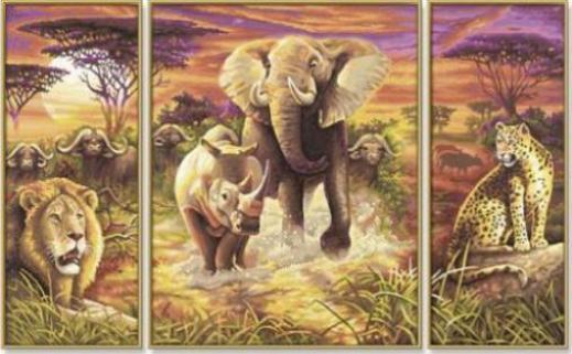 Schipper Arts Crafts Malen Nach Zahlen Afrika Die Grossen Fünf