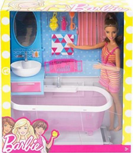Mattel Barbie Möbel Badezimmer & Puppe günstig kaufen ...