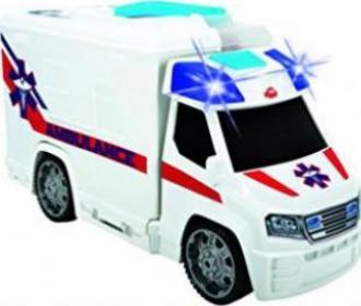 Ca 33 cm Emergency Van / Ambulance Push And Play Dickie 203716000 - Neu