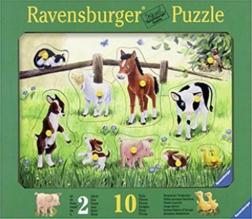 ravensburger puzzle heimische tierkinder g nstig kaufen preisvergleich test. Black Bedroom Furniture Sets. Home Design Ideas