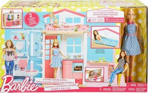 mattel barbie 2 etagen ferienhaus puppe g nstig kaufen preisvergleich test. Black Bedroom Furniture Sets. Home Design Ideas