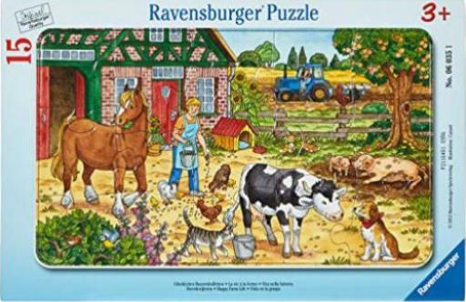 ravensburger puzzle gl ckliches bauernhofleben g nstig kaufen preisvergleich test. Black Bedroom Furniture Sets. Home Design Ideas