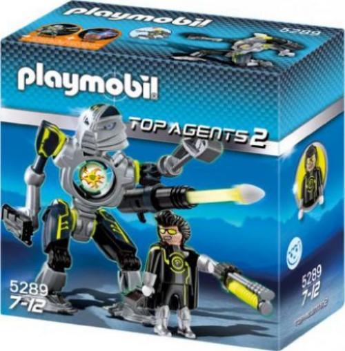 playmobil top agents 2 mega masters robo blaster. Black Bedroom Furniture Sets. Home Design Ideas
