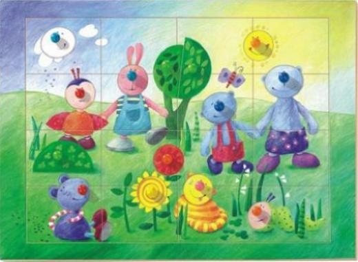 Puzzles & Geduldspiele HABA Greifpuzzle Bauernhof-Tierkinder