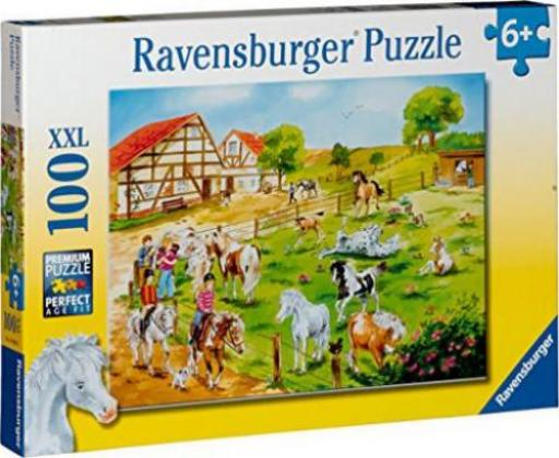 ravensburger puzzle ponyhof g nstig kaufen preisvergleich test. Black Bedroom Furniture Sets. Home Design Ideas