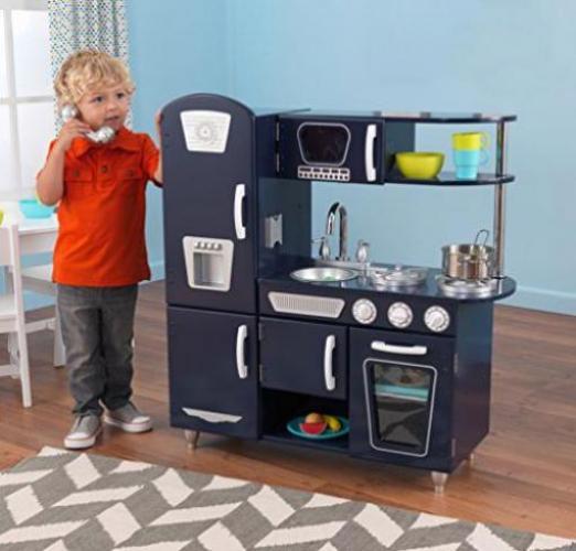 KidKraft Marineblaue Retro-Küche günstig kaufen | Preisvergleich & Test