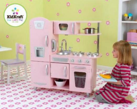 Kidkraft Retro Küche Rot | Kidkraft Rosa Retro Kuche Gunstig Kaufen Preisvergleich Test
